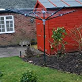 50M ROTARY AIRER/DRYER CLOTHES WASHING LINE GARDEN NEW