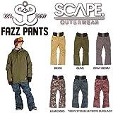 15-16 SCAPE エスケープ FAZZ PANTS ファズパンツ メンズ スノーボード パンツ スノーウェア (ベージュ, L)