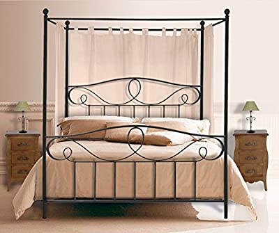 Canopy bed MARINA for mattress with 150x190 cm