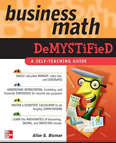 Business Math Demystified front-980922