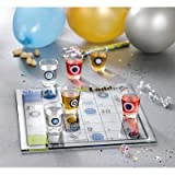 Crystal Clear Shot Glass Shoots and Ladders Bar Game Set