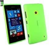 Emartbuy® Nokia Lumia 520 Frosted Pattern Gel Skin Cover Green