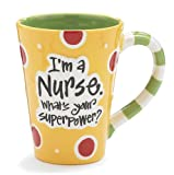 "Nurse 12 Oz Coffee Mug/cup with ""Im A Nurse"" Whats Your Super Power?"" Great Gift For Nurses"