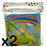 Baby Bath Time Book Colorful and Waterproof Soft Body Book Pack of 2 Jungle Book