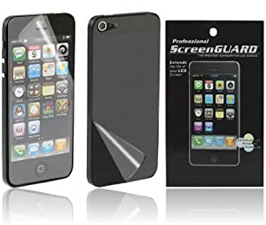 Alternate Cases Anti Glare Display Schutzfolie für das Apple iPhone 5 für Front und Rückseite Screenguard Folie für Vorne und Hinten - Anti Glare