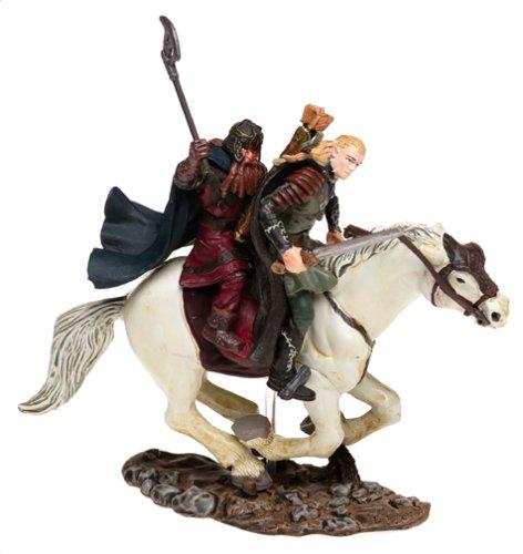 Lord of the Rings Armies of Middle Earth Legolas  Gimli on Horseback Figure 1 24 ScaleB0000AH5G2