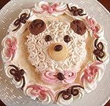 手作りアイスケーキ・ハッピークマさん 5号・6号【土台が選べる★6種類】 (土台【特選バニラ&チョコレート】, 6号)