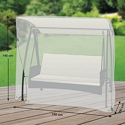 Klassik Schutzhülle für Gartenschaukel/Hollywoodschaukel aus PE-Bändchengewebe - transparent - von 'mehr Garten' - für 2-Sitzer (Breite: max. 150cm) von Schutzhüllenprofi auf Gartenmöbel von Du und Dein Garten