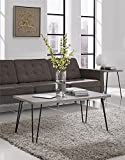 Altra Owen Retro Coffee Table, Sonoma Oak/Gunmetal Gray (Kitchen)