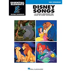 Disney Songs: Essential Elements Guitar Ensembles Early Intermediate Level
