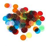 【ノーブランド品】ビンゴゲーム用 チップ 直径3cm 6色 120枚*