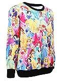 Ensasa Women's Fashion Disney Princess Long-Sleeved Sweater,Sweatshirts