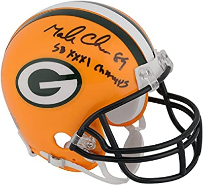 "Mark Chmura Green Bay Packers Autographed Riddell Mini Helmet with ""SB XXXI CHAMPS"" Inscription - Fanatics Authentic Certified"