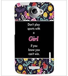 PrintDhaba Quote D-5711 Back Case Cover for HTC ONE X (Multi-Coloured)