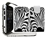 Gr8value Blackberry Bold 9700 PU LEATHER MAGNETIC CASE SKIN COVER WALLET POUCH + FREE STYLUS (Zebra face flip case)