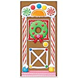 Beistle Gingerbread House Door Cover, 30 by 5-Inch, Multicolor