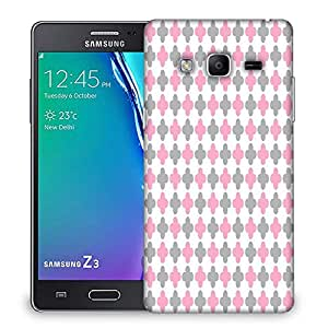 Snoogg Abstract Design White Pattern Designer Protective Phone Back Case Cover For Samsung Galaxy Tizen T3
