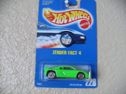 Hot Wheels Zender Fact 4 All Blue Card #228 Day-glo Green,orange/black Tampos,ultra Hots