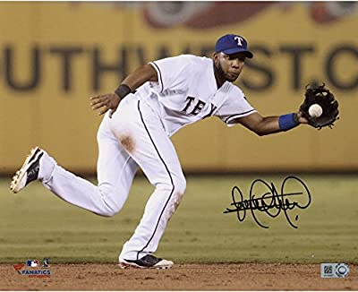 "Elvis Andrus Texas Rangers Autographed 8"" x 10"" Fielding Ball Photograph - Fanatics Authentic Certified"