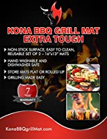 Kona Best BBQ Grill Mat(TM) - Heavy Duty Non-Stick 16 x 13 Inch (Set of 2) by Nickle's Arcade