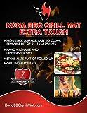 KONA Best BBQ Grill Mat - Heavy Duty 600 Degree Non-Stick Mats (Set of 2) - 7 Year Warranty