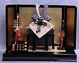 【新作】【五月人形】兜平飾り【武久】ブロンズ黒【8号】金沢箔屏風k5s2【兜飾り】