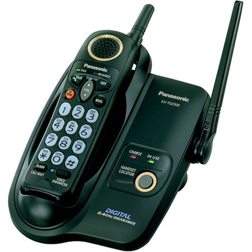 Panasonic KX-TG2302B 2.4 GHz FHSS GigaRange  Big Button Digital Cordless Telephone (Panasonic Phone Shoulder Rest compare prices)