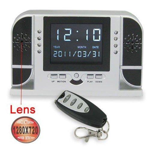 Amzdeal SPY Multi-function IR Clock Camera Motion Detect Mini Hidden DV DVR+Remote Control