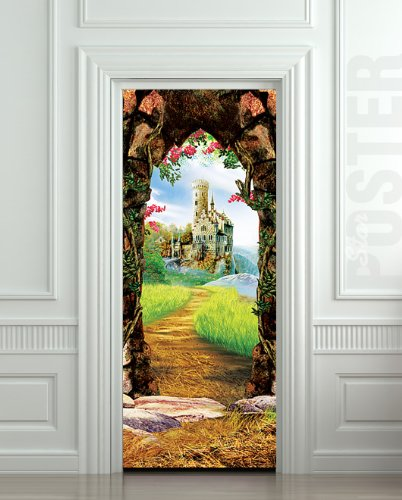 Peel and stick door murals funk this house for Door mural wallpaper