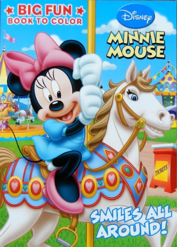 "Disney ""Smiles All Around!"" Minnie Mouse 96-page Coloring Book"