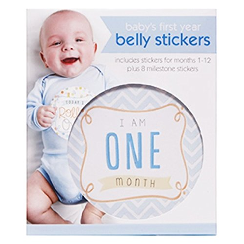 C.R. Gibson First Year Belly Stickers, Boy