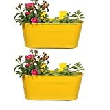 Trust basket Oval Planter Set of 2 Yellow color 12*7 inches