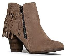 Breckelles Gail-26 Bootie Boots, Beige Suede, 8
