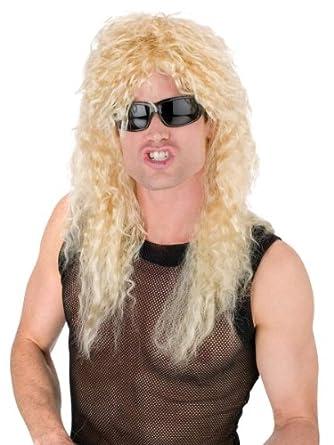Amazon Com Headbanger Wig Blonde 1980 Hair Band Twisted