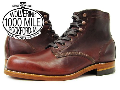 (ウルヴァリン)WOLVERINE 1000 MILE BOOT PLAIN TOE BOOT RUST [並行輸入品]