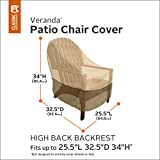 Classic Accessories Veranda Patio Chair Cover 78932, Size High Back Pebble