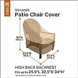 Classic Accessories Veranda Patio Chair Cover 78932, Size High Back Pebble