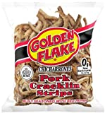 Golden Flake Pork Cracklins W/Red Pepper Seasoning 3.50 oz (Pack 4)