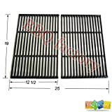 66662 Porcelain Cast Iron Cooking Grid Grate Replacement for for Brinkmann, Charbroil and Charmglow and other Grills, Set of 2