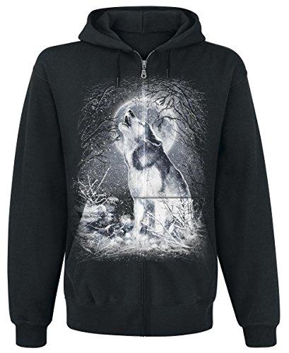 Spiral White Wolf Felpa jogging nero M