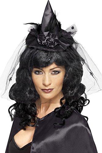 Smiffys Women's Black Witch Hat Mini Headband - 1