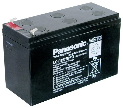 Panasonic - LC R127R2PG - Batterie au plomb - FastOn 187 - 4,8 mm (Import Allemagne)