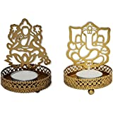 SHADOW Laxmi Ganesh LAMP Diya : Candlle Tea Light Holder SET OF 2