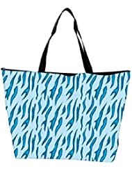 Snoogg Abstract Blue Chetah Design Designer Waterproof Bag Made Of High Strength Nylon