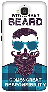 The Racoon Grip Beard Responsibility hard plastic printed back case/cover for Huawei Honor Holly 2 Plus