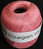 Grundl 813-117 100 g Hakelgarn 100 Crochet Yarn Ball, Pink