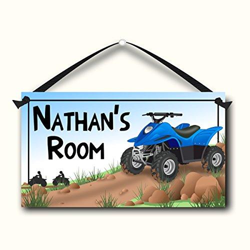 4 Wheeler Kids Door Sign, Personalized Room Plaque, Children's Bedroom Decor (Door Signs For Kids compare prices)