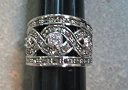 R.S. Covenant 817 Marcasite CZ Ring Size 7