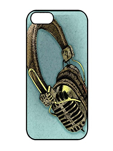 Hot Sell Music Painting Headphone Iphone 5 5S Tpu Silicone Case
