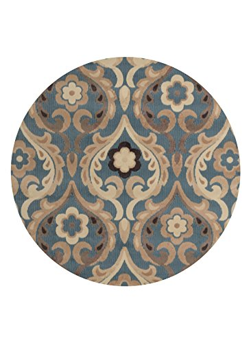 Home Dynamix HD4902-309 Catalina Round Area Rug, 39-Inch, Blue